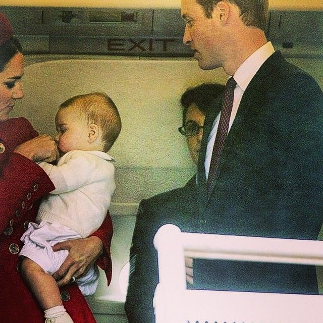 April 7, 2014 - Photo taken by @dailyduchesskatemiddleton on Instagram, pinned via the InstaPin iOS App! http://www.instapinapp.com (10/02/2014) Prince George