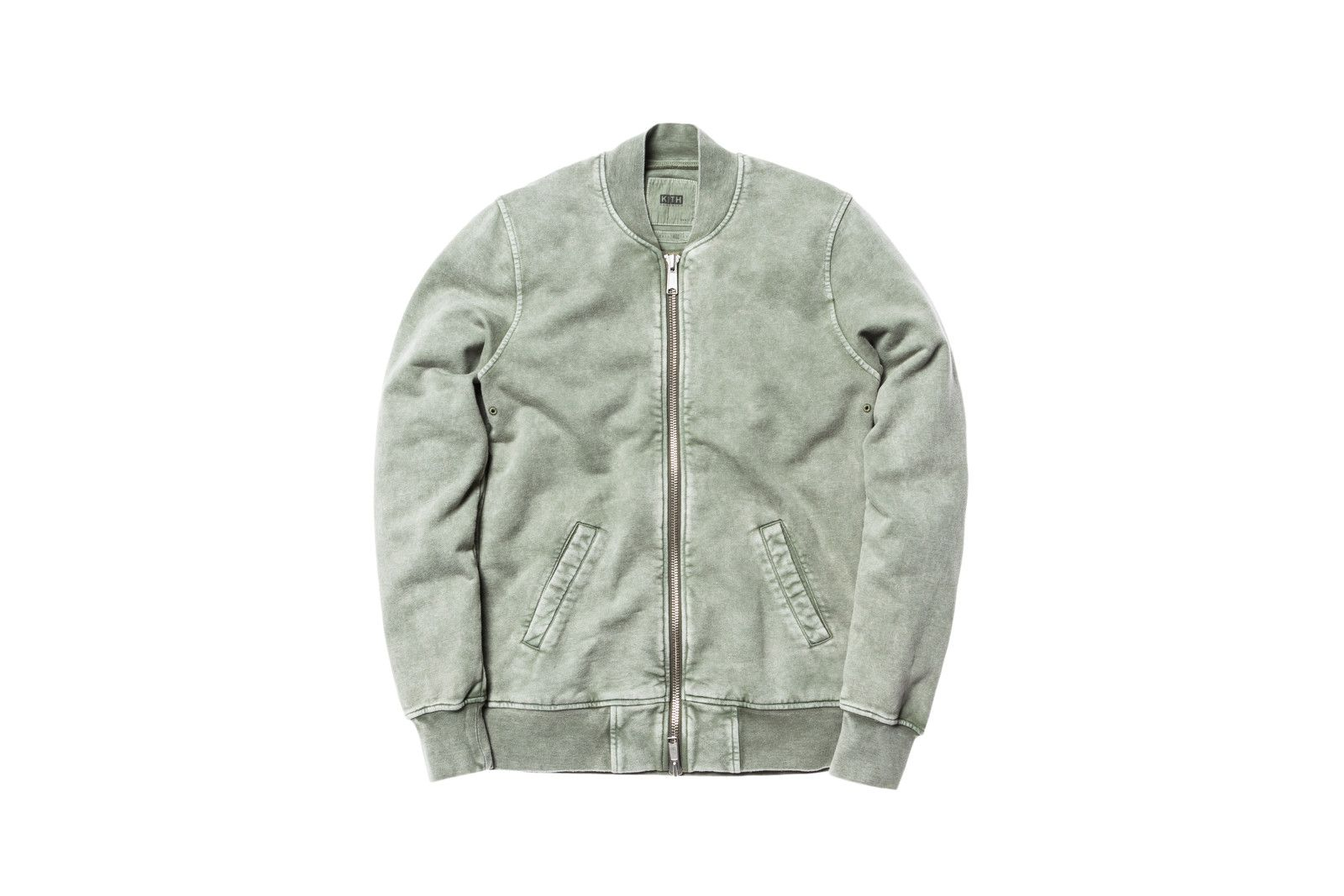 Kith Herkimer Bomber Washed Olive Fashion Clothes Kith [ 1067 x 1600 Pixel ]