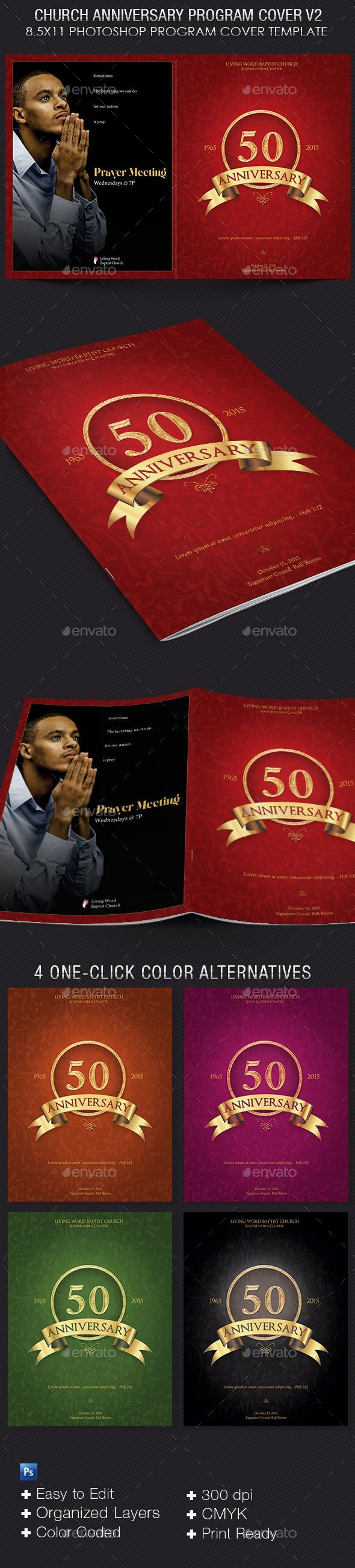 Church anniversary program cover template v2 template print church anniversary program cover template v2 by 4cgraphic church anniversary program cover template v2 is designed with a vintage theme that will give a maxwellsz
