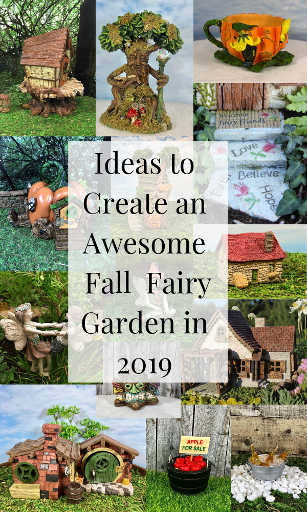 Create a Fall Fairy Garden with tons of ideas, inspiration, and supplies. You will find everything you need to start your perfect miniature garden - #fairyhouses #hobbithouse trees #miniatureaccesories for all your fantasy friends, #fairies #fairygarden #gardengnomes #elfvillage #homedecorideas #autumnhomedecor #falldecoratingideas #fairygardenideas #createafairygarden2019 #fairygardensupplies #miniaturesupplies #dollhousesupplies #dollhouseaccesories #diyhomedecor #creativegardenideas