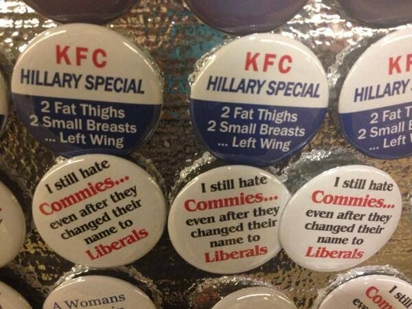Anti-Hillary Campaign Buttons