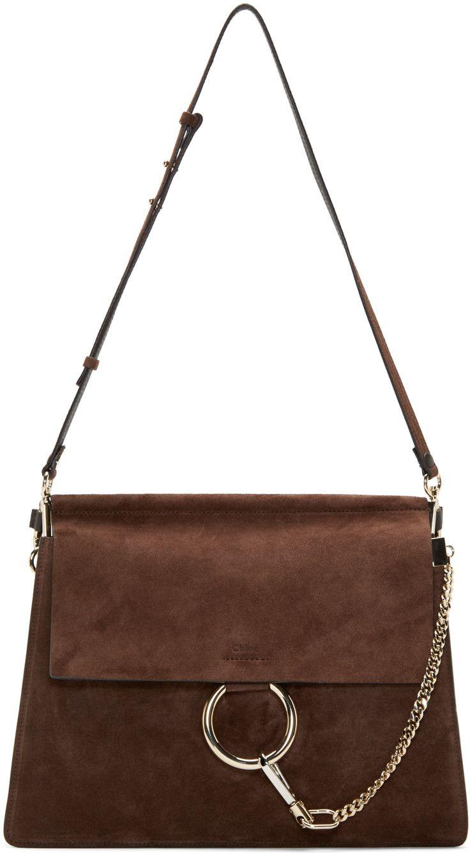 332fdeed20d66 Chloé Brown Suede Medium Faye Bag   Luxury Bags   Bags, Chloe, Chloe bag