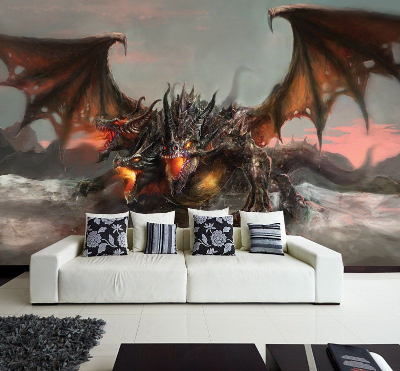 Details About Wall Removable Sticker Dragon Fantasy Tale