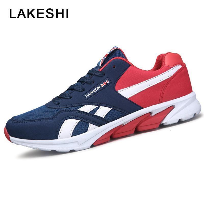 LAKESHI Men Sneakers Men Casual Shoes Lace-up Men Shoes 2018 Spring Summer  - US  19.08 8fc64e9fc48b7