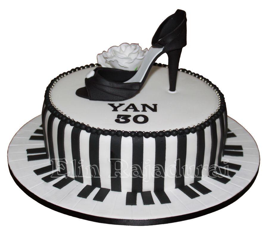 Stylish shoe cake