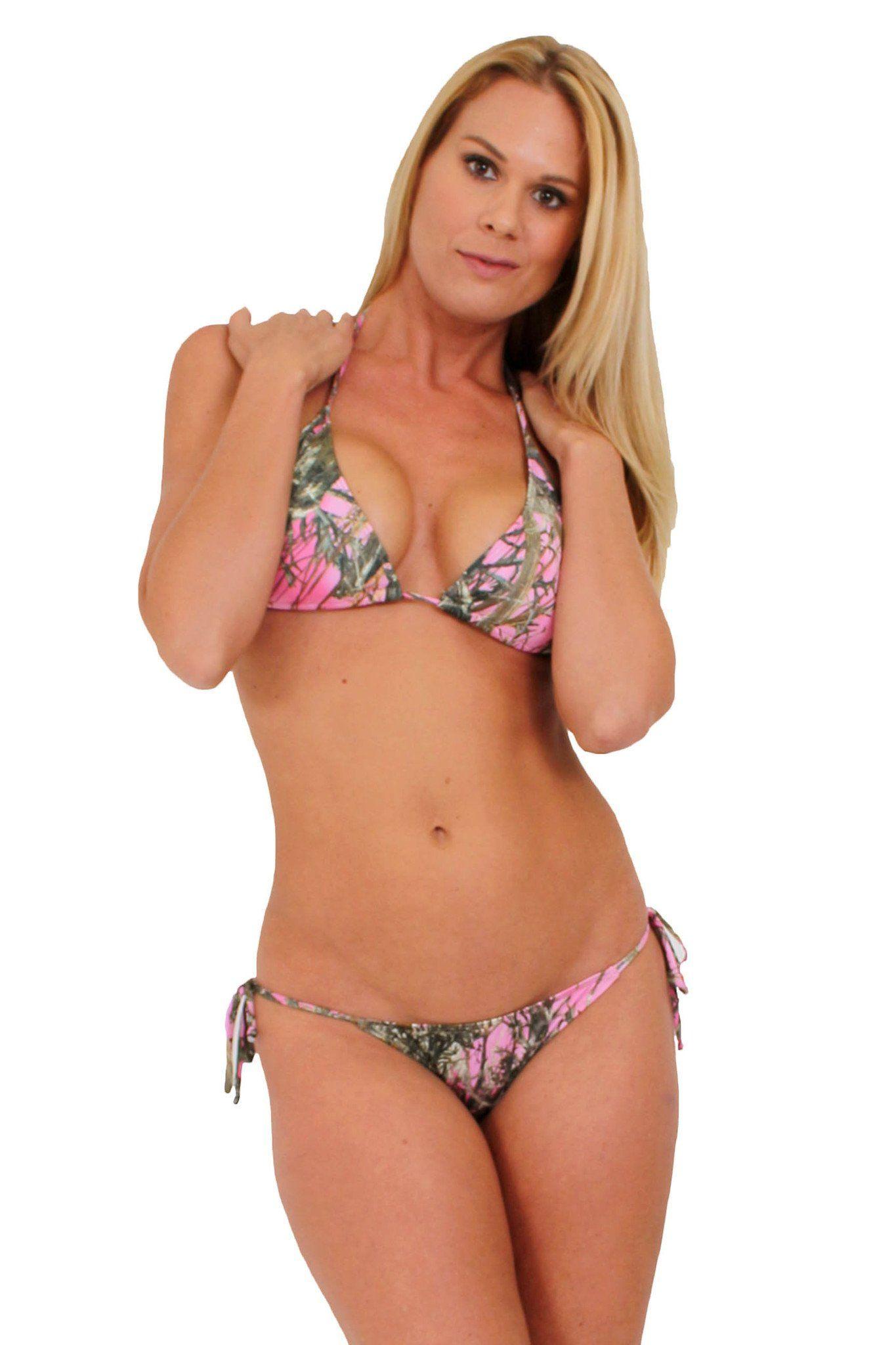e271059e38ac Women's Camo Bikini True Timber Swimwear: PINK Made in the USA - SHORETRENDZ