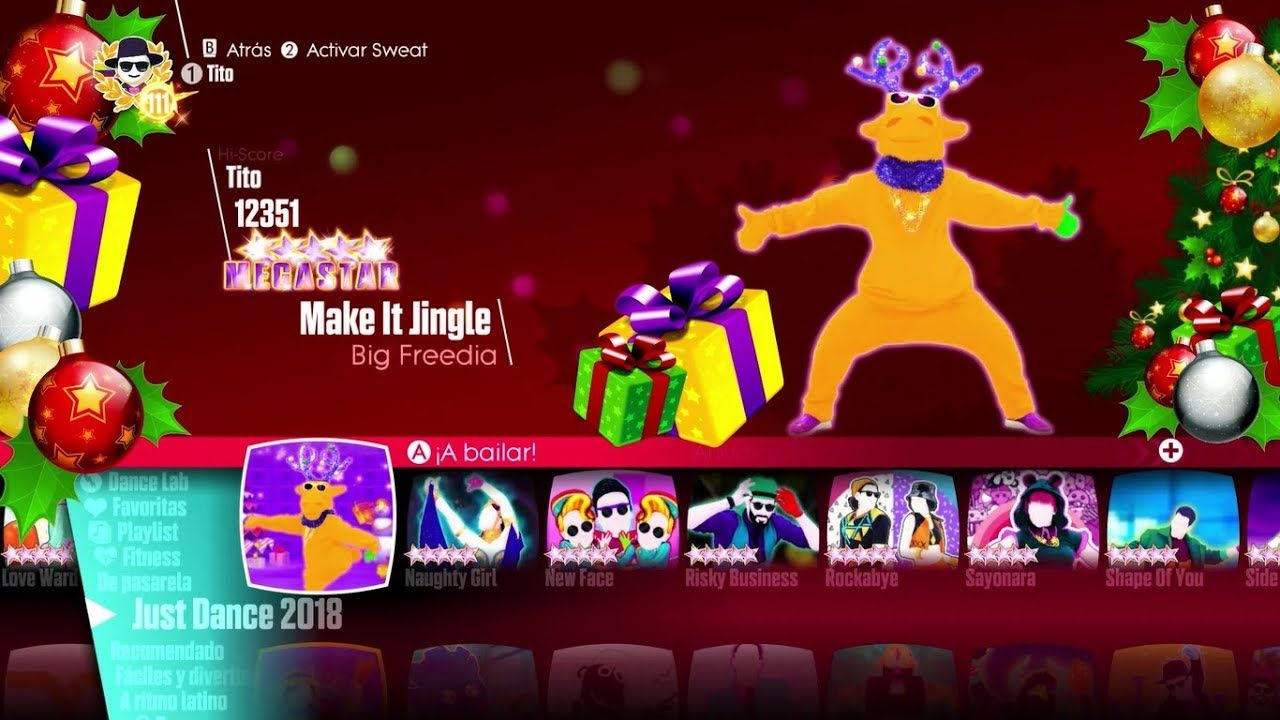 Just Dance 2018 Songlist Menu (Christmas Theme). | Just Dance in ...