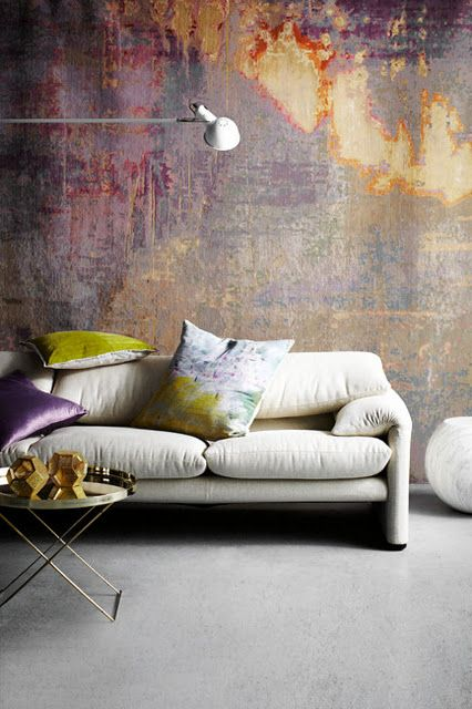 Textured, Fancy Walls Are So In Right Nowu2014and Watercolor Walls Are Just  Continuing That Trend. Check Out These Pretty Rooms That Style The  Watercolor Wall ...