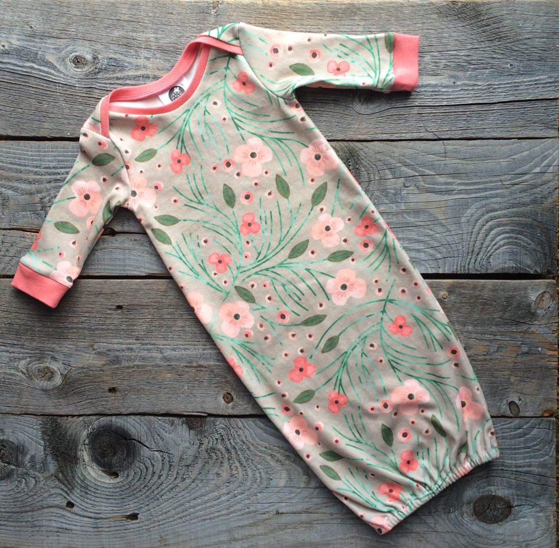Winter Flower Organic Gown - Available at Natural Baby Company in Bozeman, MT