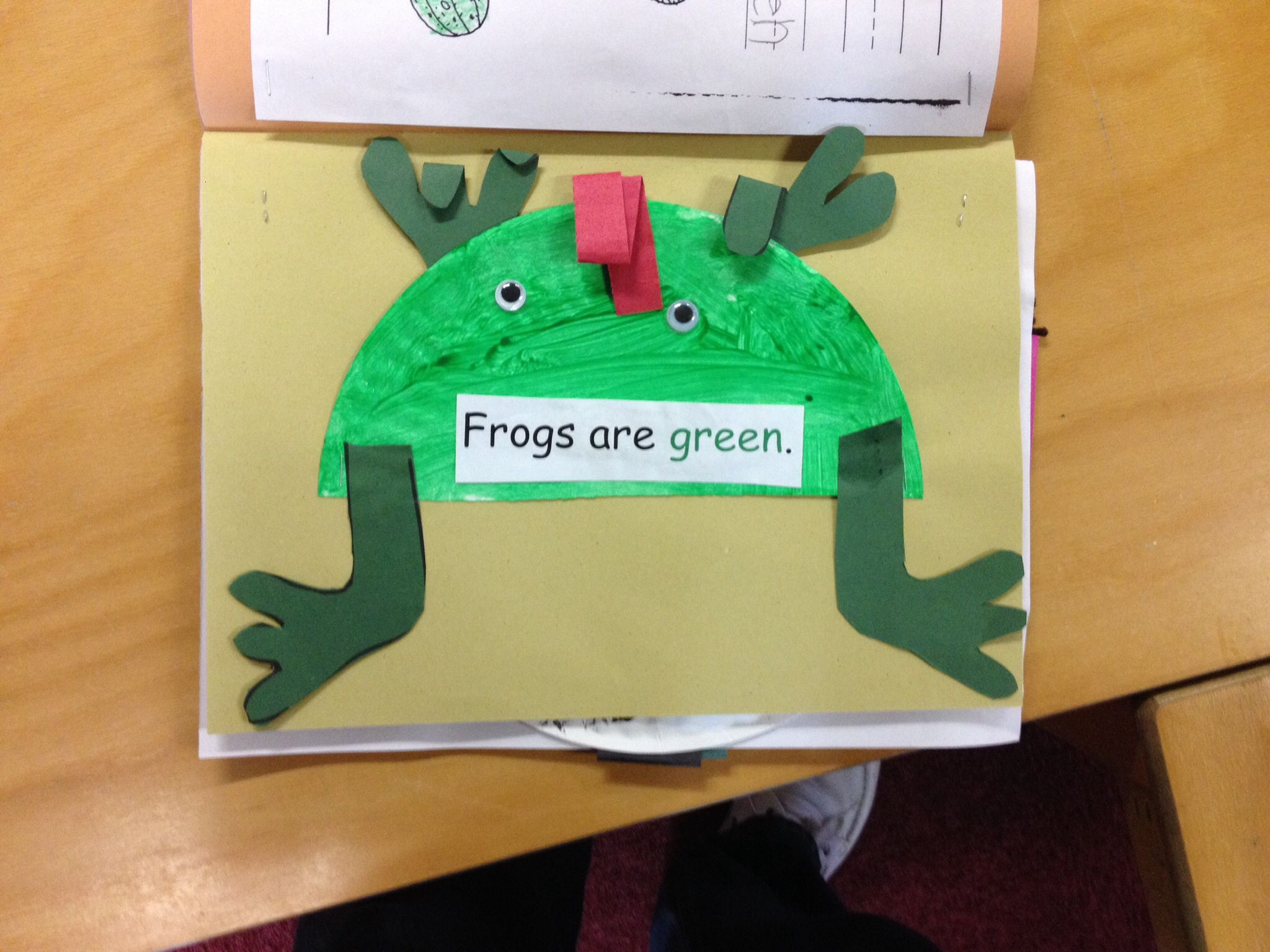 The color green preschool activity Green is for frog | Color green ...
