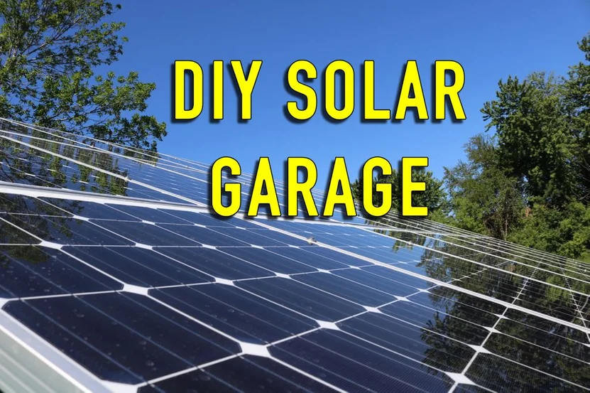 Diy Solar Garage Solar Energy Diy Solar Energy For Home Solar Energy Projects