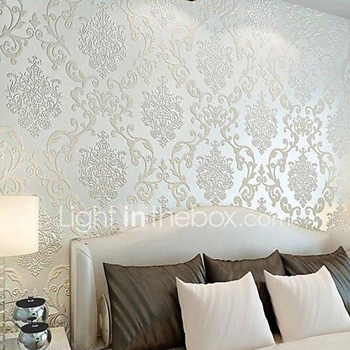 22 79 Wallpaper Wall Covering Sticker Film Adhesive Required Damask Non Woven Home Decor 1000 55cm Wallpaper Walls Bedroom Bedroom Wall Designs Wallpaper Living Room Bedroom wall wallpaper images
