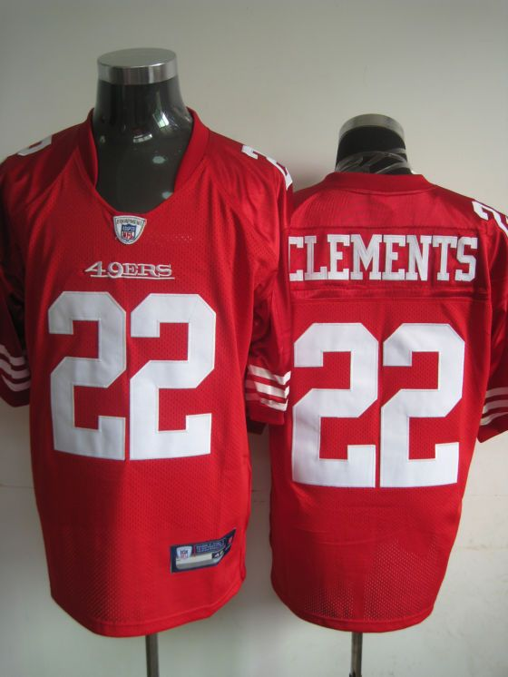 buy popular 6a2c0 3a495 Reebok San Francisco 49ers #22 Nate Clements Red Team Color ...