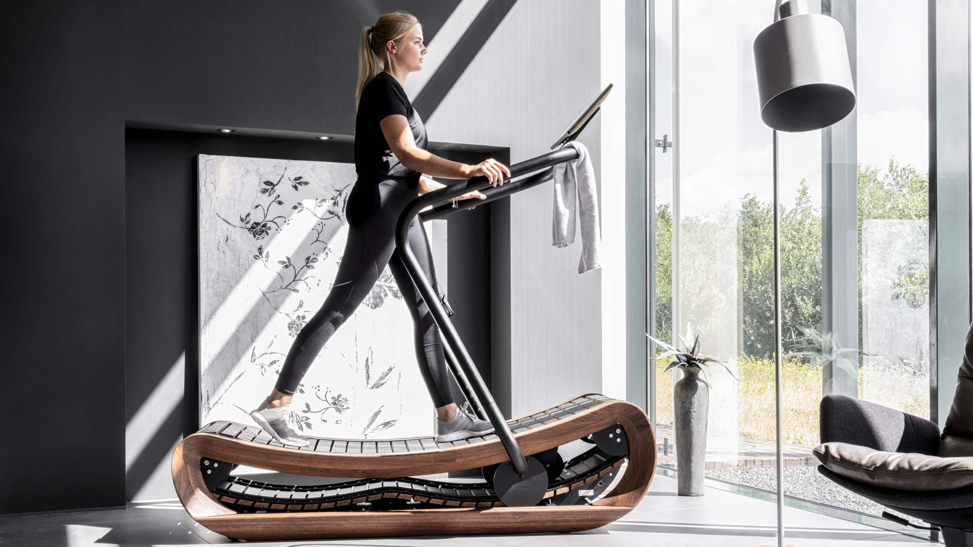 Sprintbok - Curved Manual Treadmill - Made by NOHrD in 2020 | Fitness equipment design, No equipment workout, Home gym design