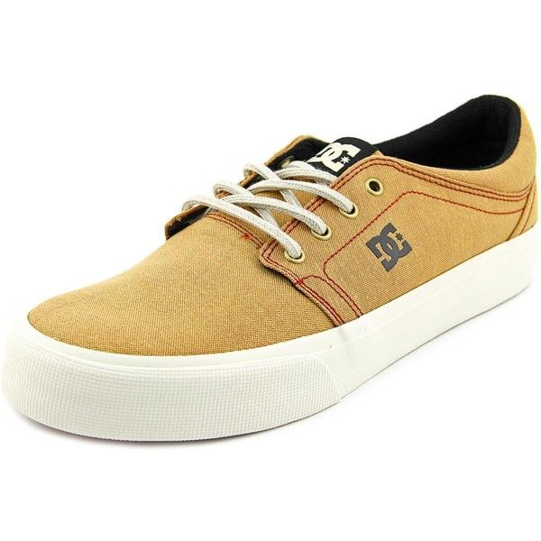 DC Shoes Trase TX Mens Skate Shoes (54 CAD) ❤ liked on Polyvore featuring shoes, sneakers, tan, grip shoes, tan sneakers, grip trainer, dc shoes and dc shoes footwear