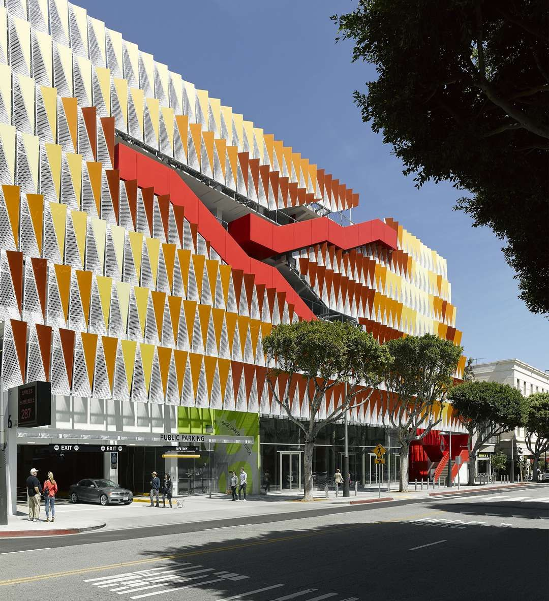 Garage Design Architecture: Santa Monica's Newest Parking Garage Is A Polychromatic