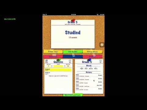 Spelling app that enables you to make your own spelling lists to practice spelling words. Included are Dolch spelling lists. Practice tests, scramble words included in the app.
