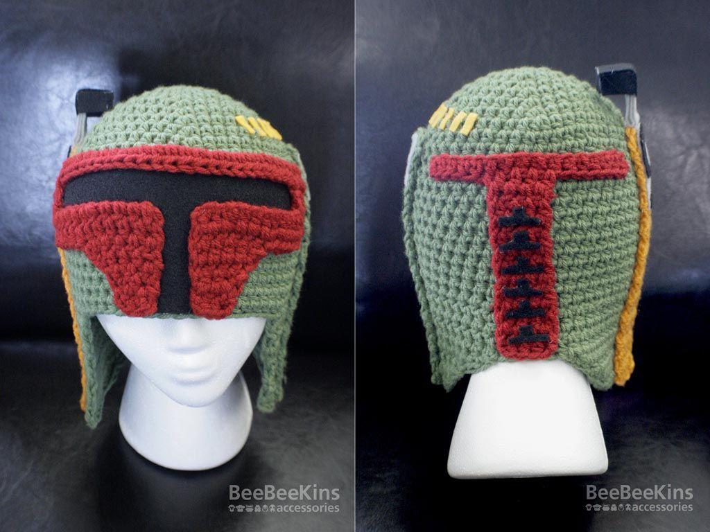 Star Wars Boba Fett Helmet Crochet Hat | Clothing | Pinterest