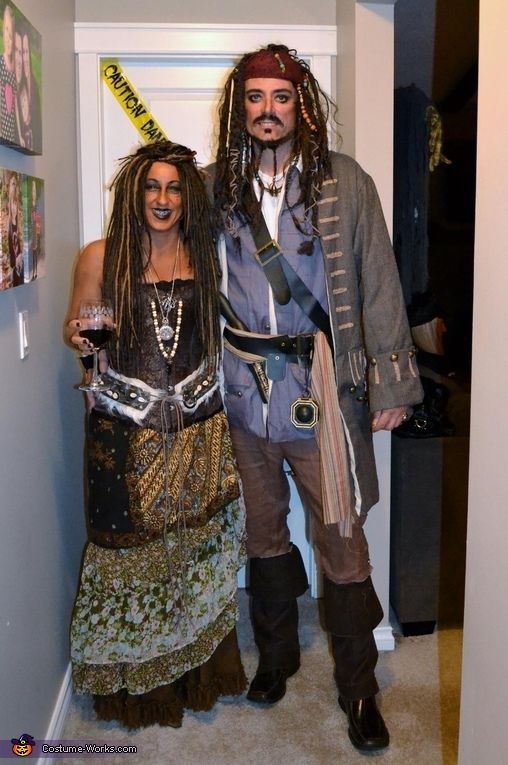 jack sparrow and calypso costume - Jack Sparrow Halloween Costumes