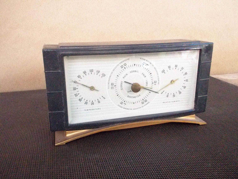 vintage airguide art deco desktop weather station barometer rh pinterest com Airguide Thermometer Airguide Barometer Repair