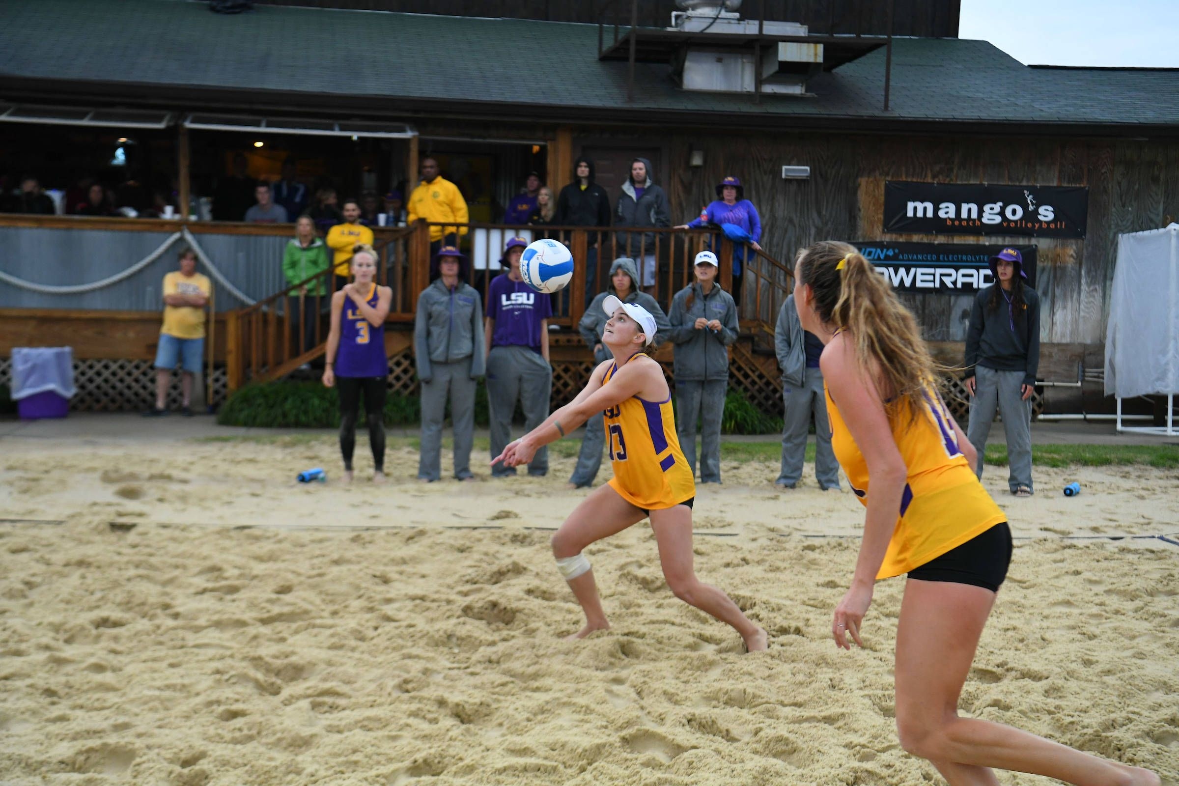 Tell It Like It Is Talk Show Lsu Beach Volleyball Battles Rain And Earns Two Wi Beach Volleyball Lsu Volleyball