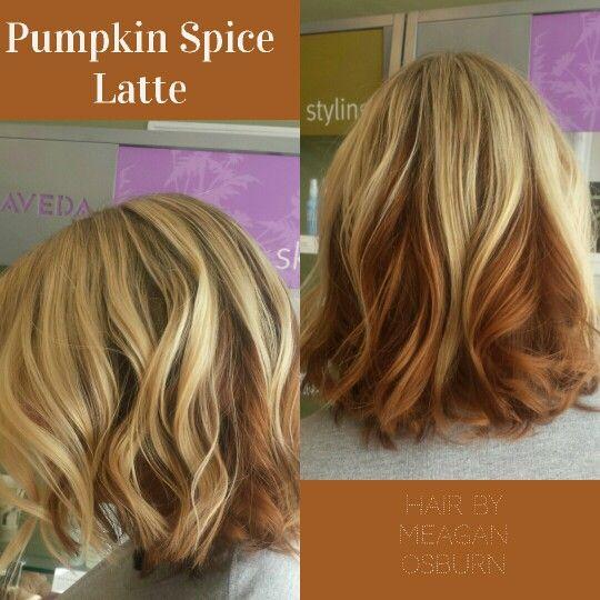 Pumpkin Spice Latte Hair Psl Fall Lob Insta Meagan O Hair