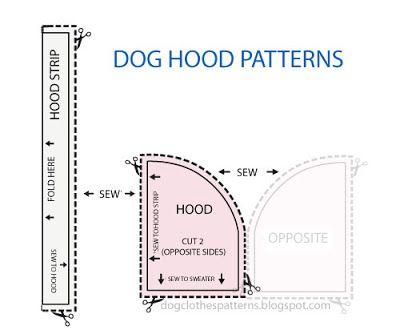 Dog Hoodie patterns | Free Dog Clothes Patterns | DIY | Pinterest ...