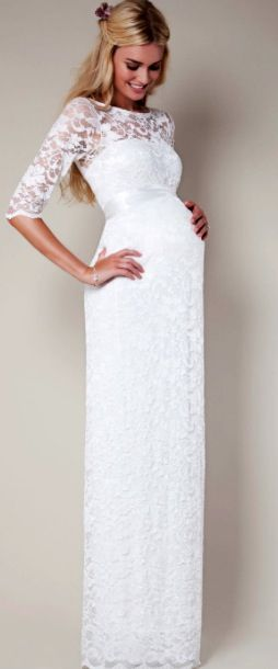 Wonderful Lace Baby Shower Maternity Dress