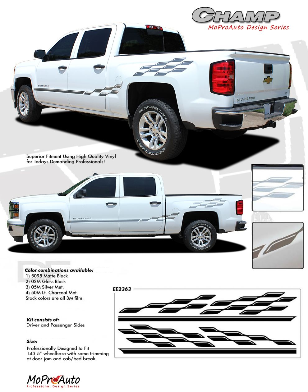 CHAMP 20142019 Chevy Silverado or GMC Sierra Checkered