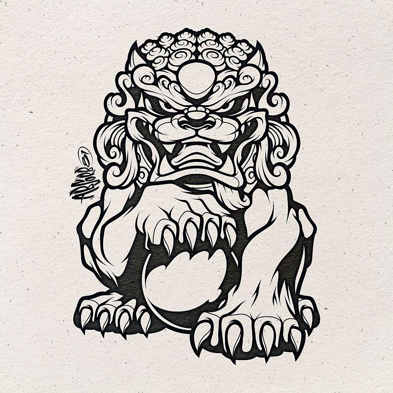 Chinese Guardian Lion Inks Fudog Foodog Chinese Chineseguardianlion Art Sculpture Statue Lion Foo Dog Tattoo Design Tattoo Art Drawings Foo Dog Tattoo