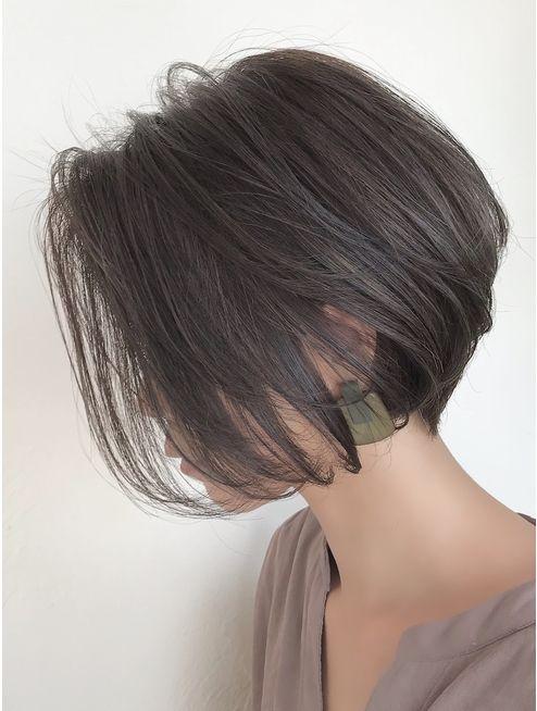 ハイライト×くびれショートボブ:L045386599|バンプ 銀座(BUMP)のヘアカタログ|ホット