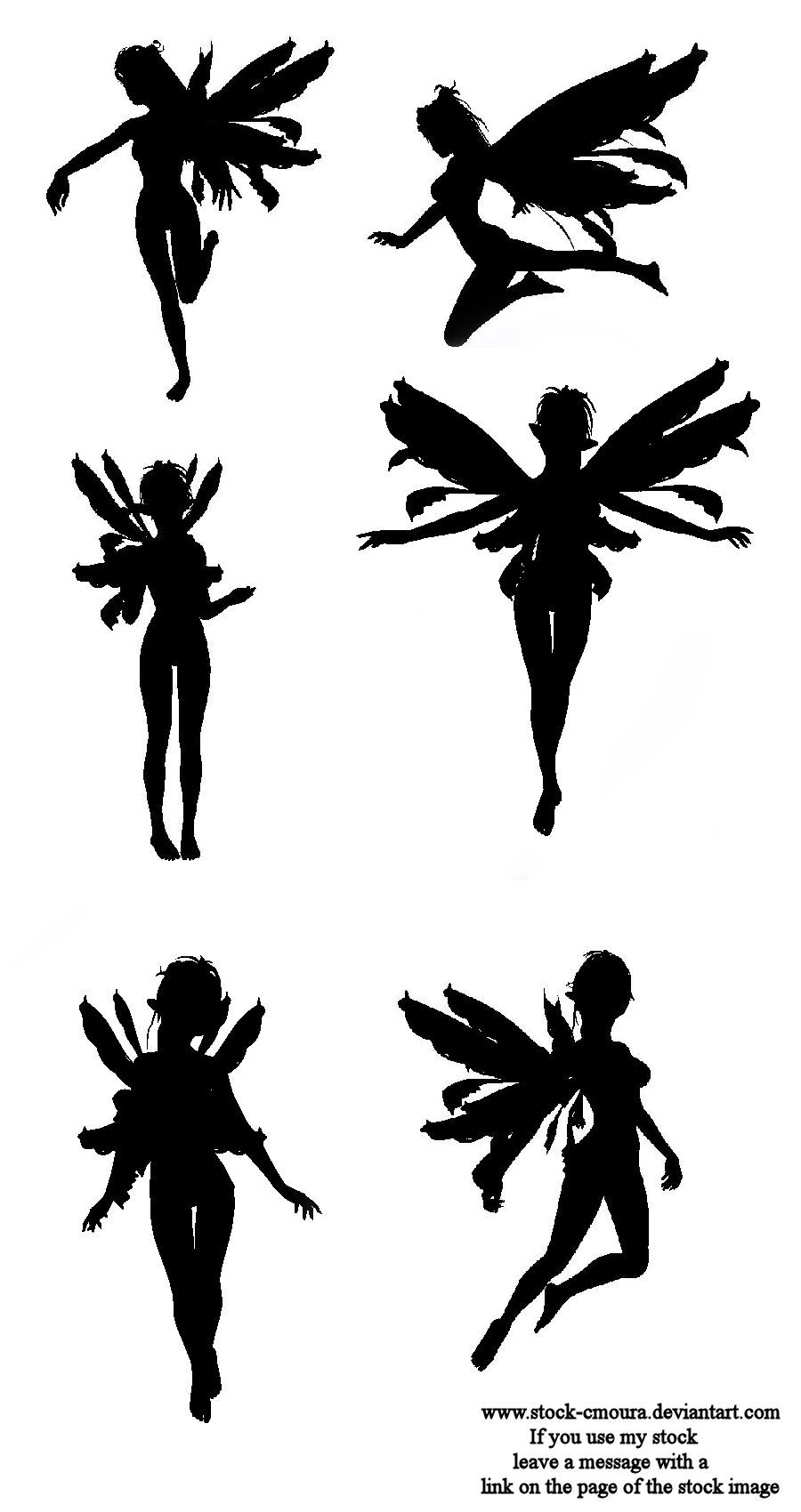 Fairy silhouette by stock cmoura on deviantart for Fairy cut out template