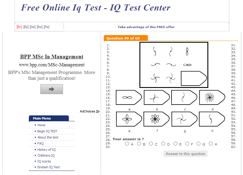 Mensa norway iq test answers