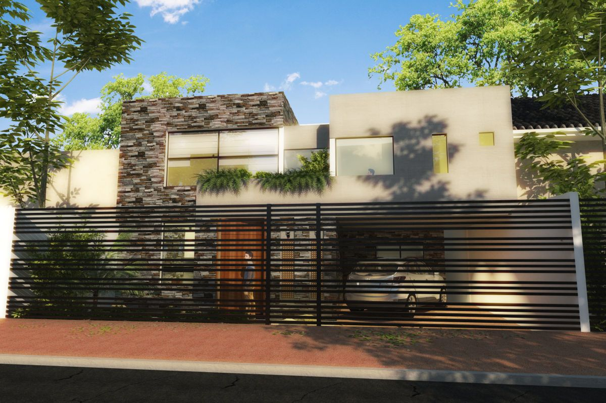 Fachadas de casas modernas con rejas buscar con google for Fachada de casas modernas con porton