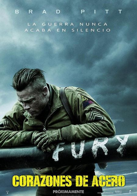 Corazones de acero, drama bélico protagonizado por Brad Pitt, es mi estreno destacado de esta semana http://elblogdeviper.es/