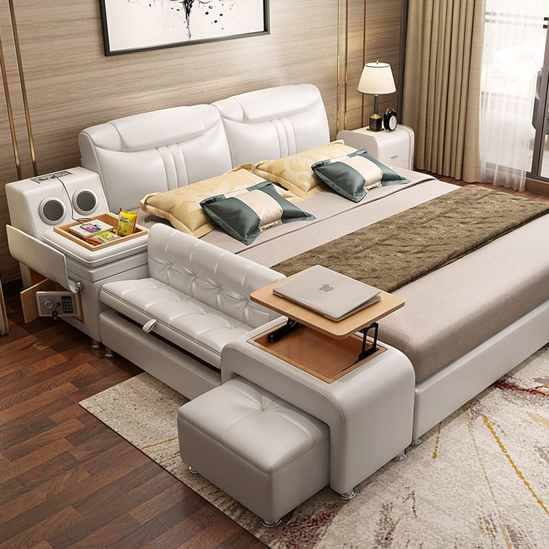 Leather Bed Tatami Bed Modern Leather Bed Double Bed 1 8 M