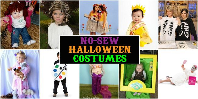 No-Sew Kids Halloween Costumes  sc 1 st  Pinterest & No-Sew Kids Halloween Costumes | Kid Halloween costumes and Halloween