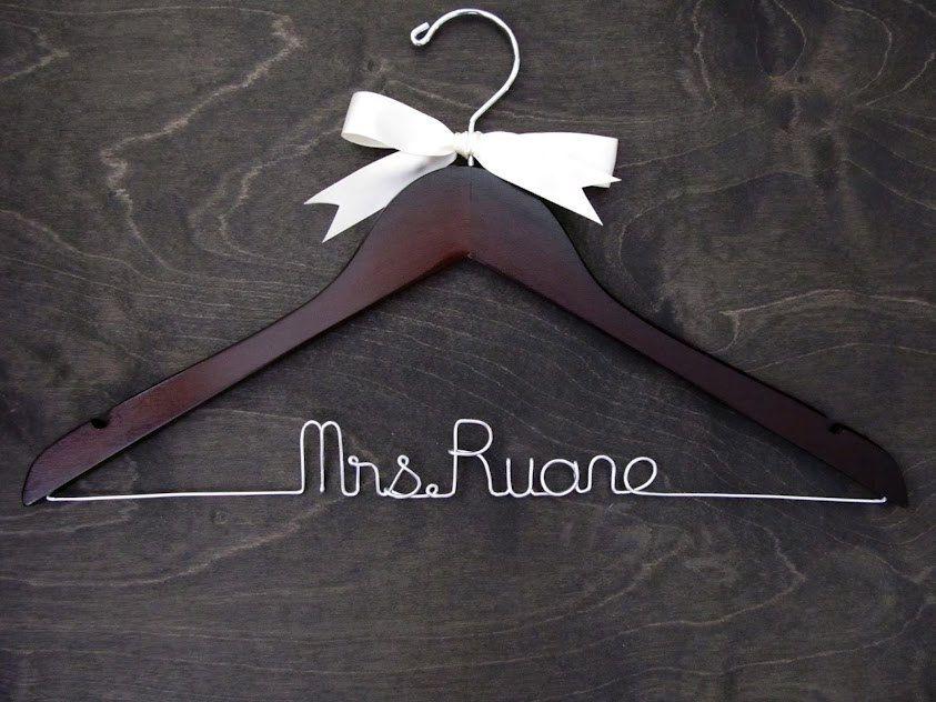 Wedding Hanger, Rush Order, Mrs Hanger, Wedding Hangers, Name Hanger, Bridal Hanger, Bridal Gift, Shower Gift, Fast Turnraround. $25.00, via Etsy.
