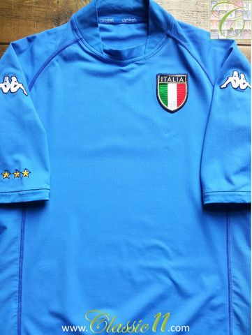 c2efc6f1e76 Vintage Kappa Italy replica home football shirt from the 2002/2003  international season. Condition of this classic shirt is 8.4/10 –  Excellent, ...