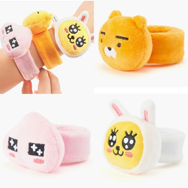 Kakao Friends official Goods Friends Face Bracelet Ryan Muzi Apeach Plush Cute #KakaoFriends #Casual