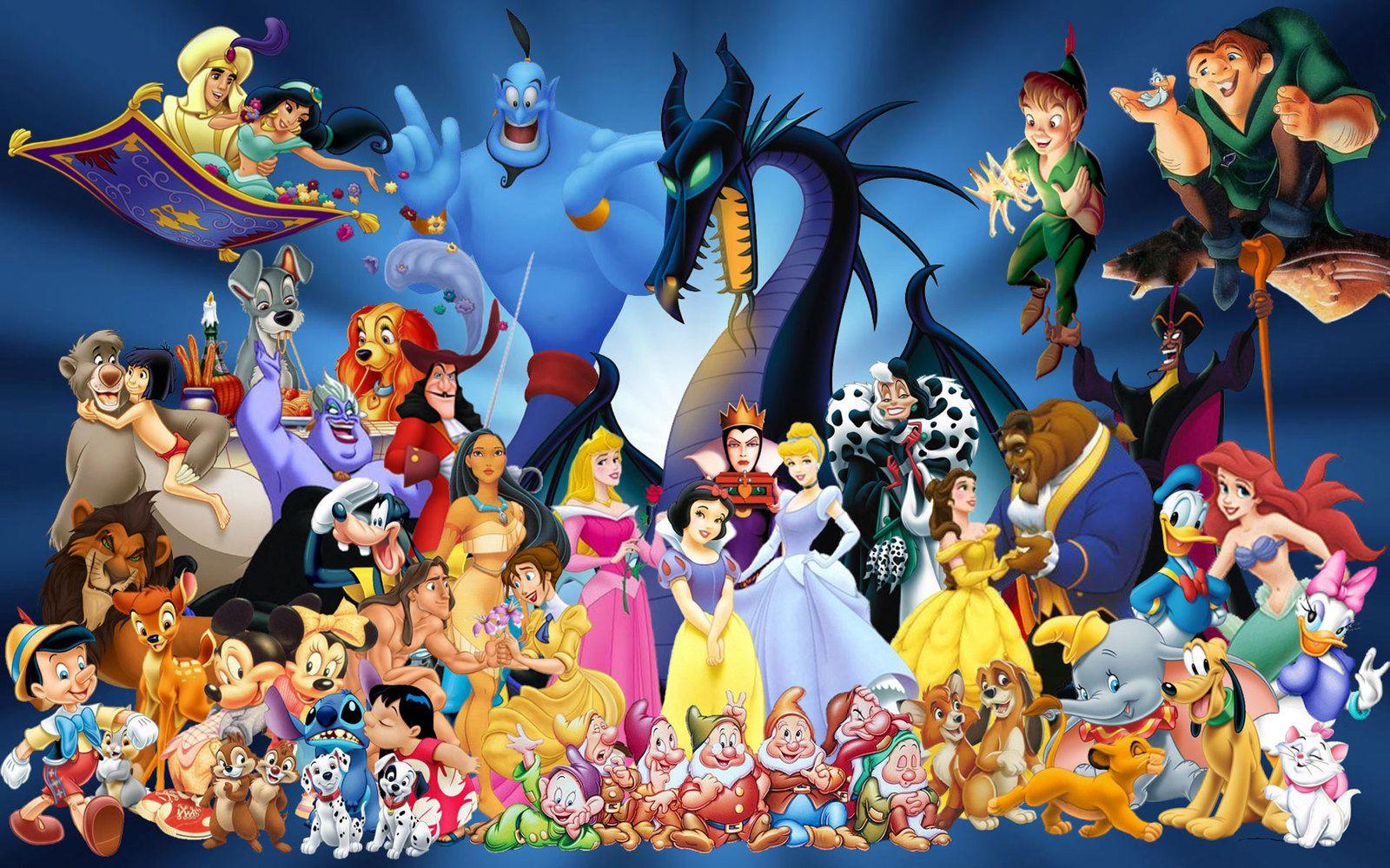 hd print oil painting wall decor art on canvaswalt disney characters - Dessin Walt Disney