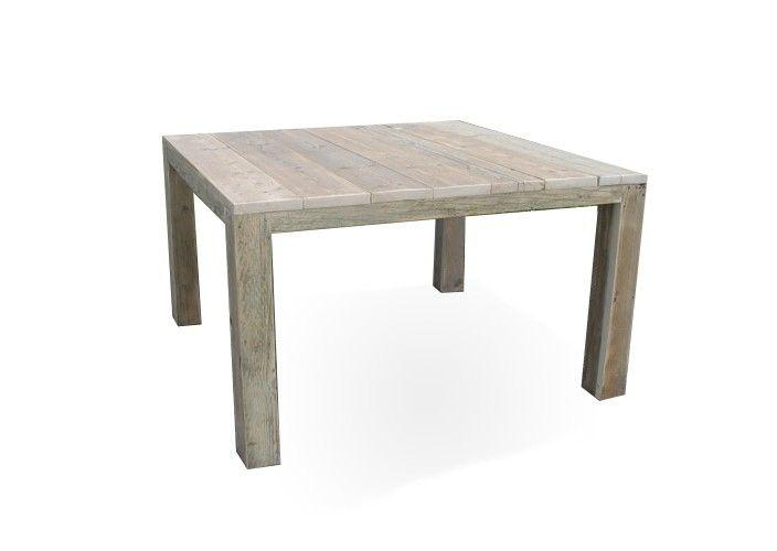 Viereckiger Tisch aus Bauholz \u201eFinn\u201c - Bauholz Gartentisch Küche