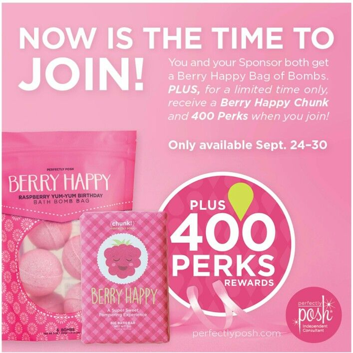 It's A Great Time To Join Perfectly Posh.. You Will