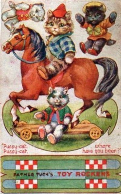 Cat Postcard Father Tuck S Toy Rockers 08 21 2013 Toys Of My