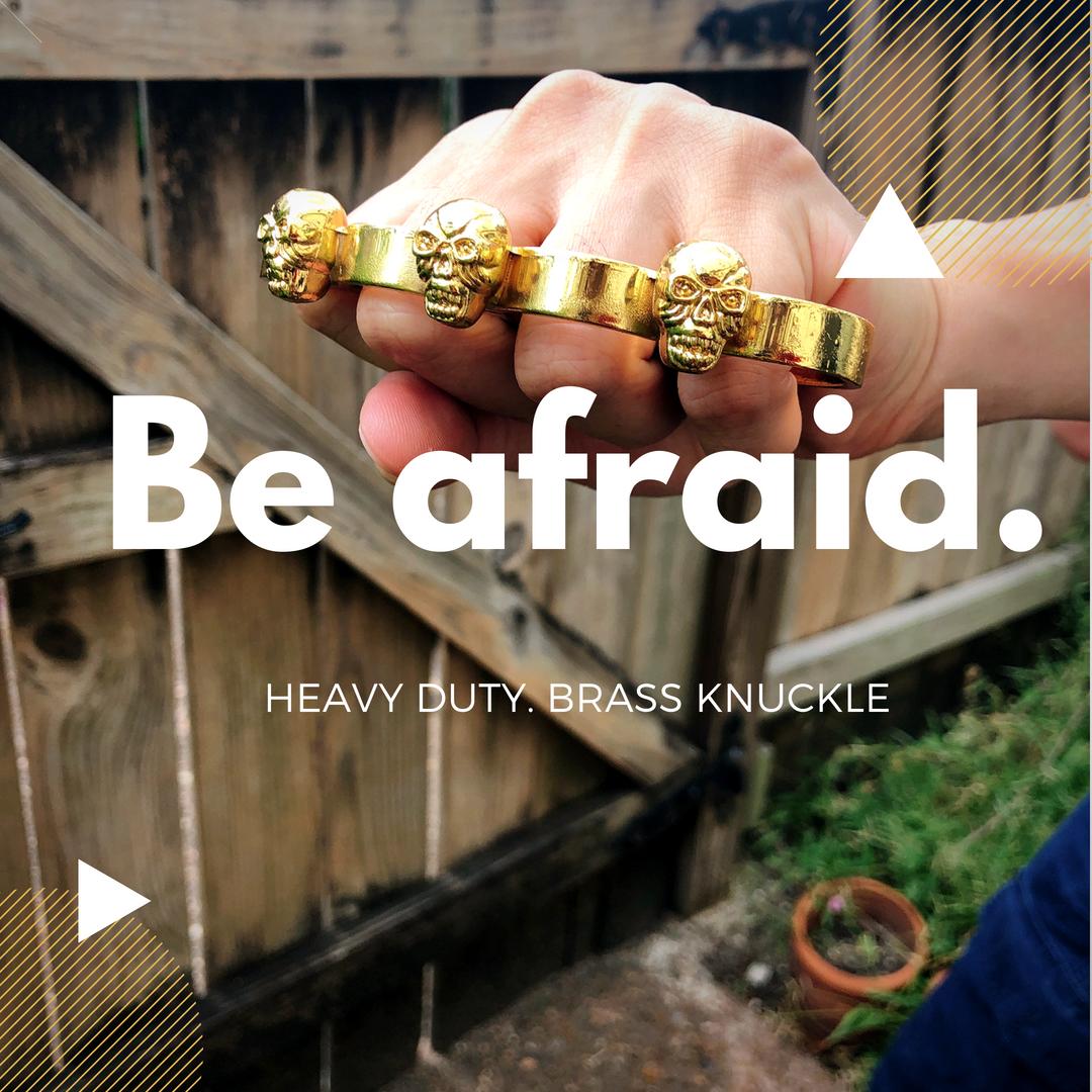 Heavy Duty Iron Knuckle Belt Buckle | Brass knuckle | Belt