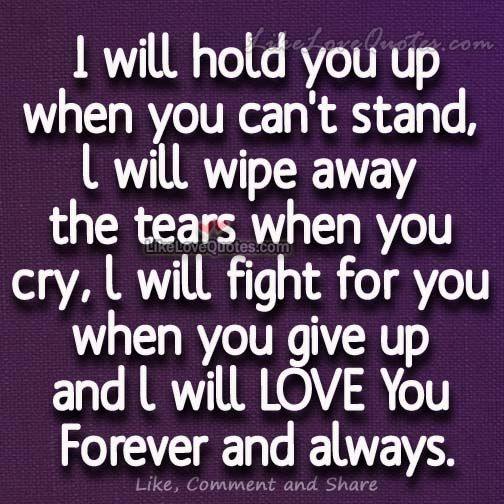 Forever Love Quotes And Sayings: L Will LOVE You Forever And Always.