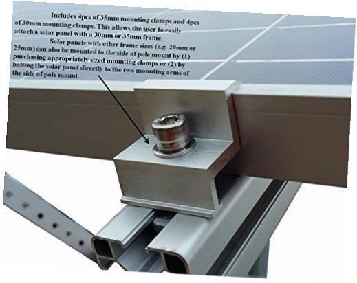 Side Of Pole Solar Panel Mount Rack For 30w To 120w Solar Panel 11 104 79 Sonnenkollektor Solaranlage Sonnenenergie