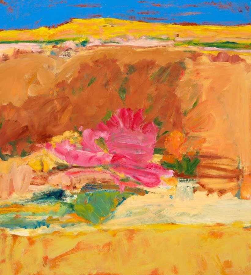 Jo Bertini Sandhill Series - Sturt Desert Rose 2012 Oil Canvas Olsen Irwin