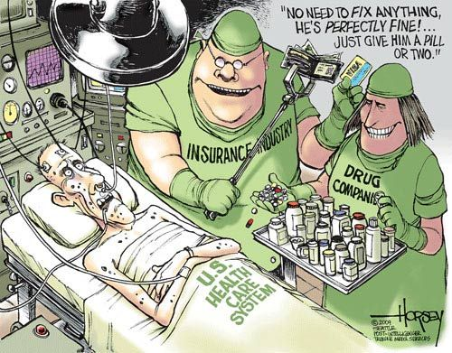 Image result for politics of health cartoon