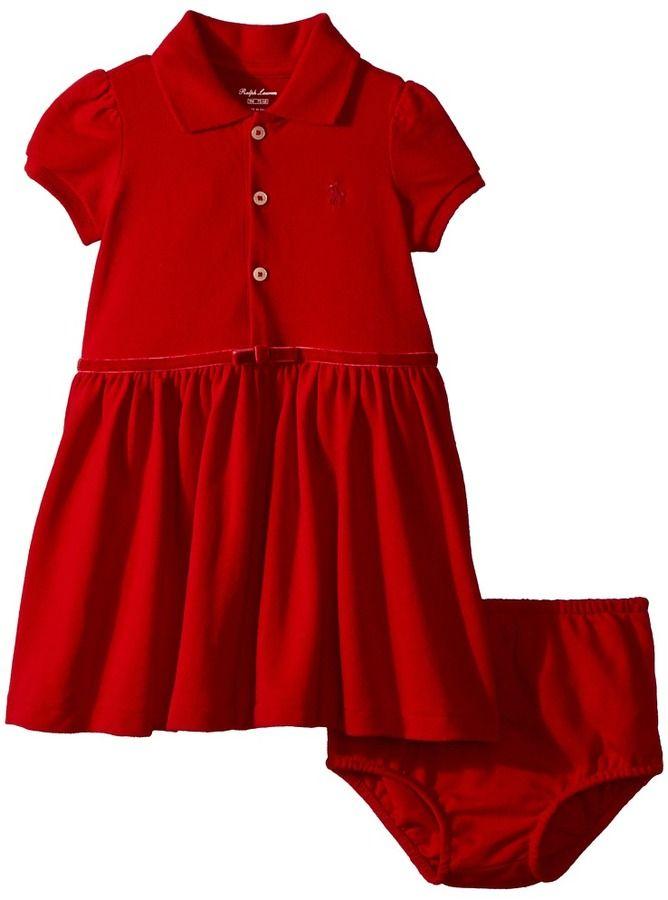 2191be038b78 Ralph Lauren Cotton Polo Dress   Bloomer (Infant)